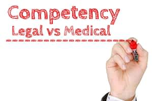 Competency - legal vs medical