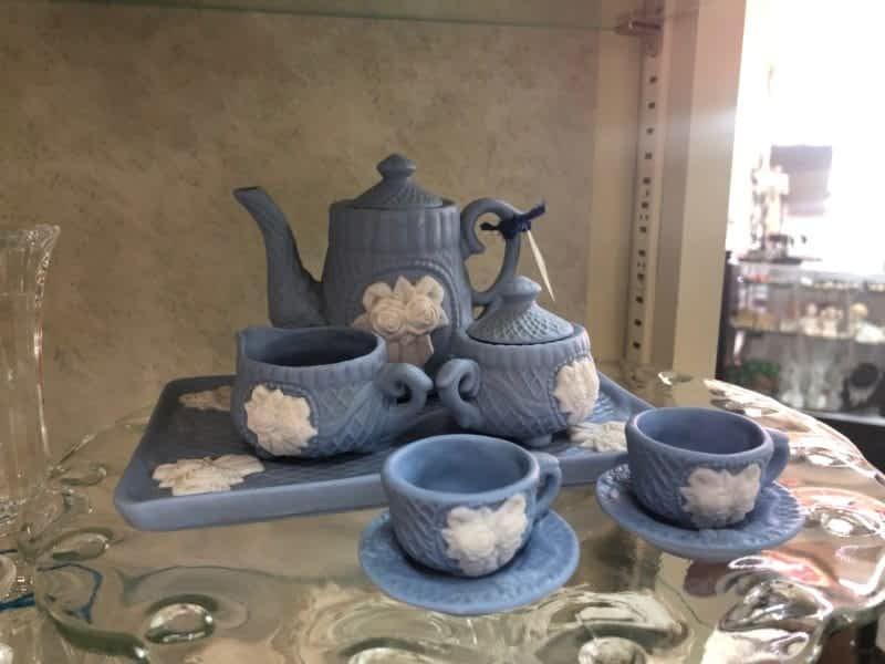 Blue Tea set