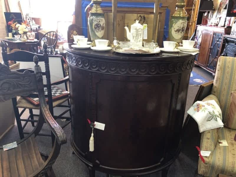 AE Antique Barrel Shaped Fine Chest
