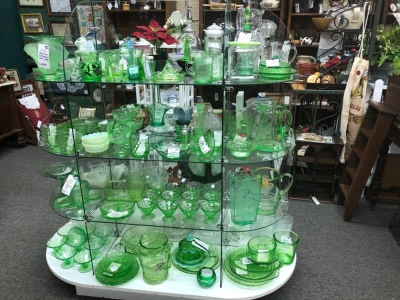 antique vaseline glass collectible